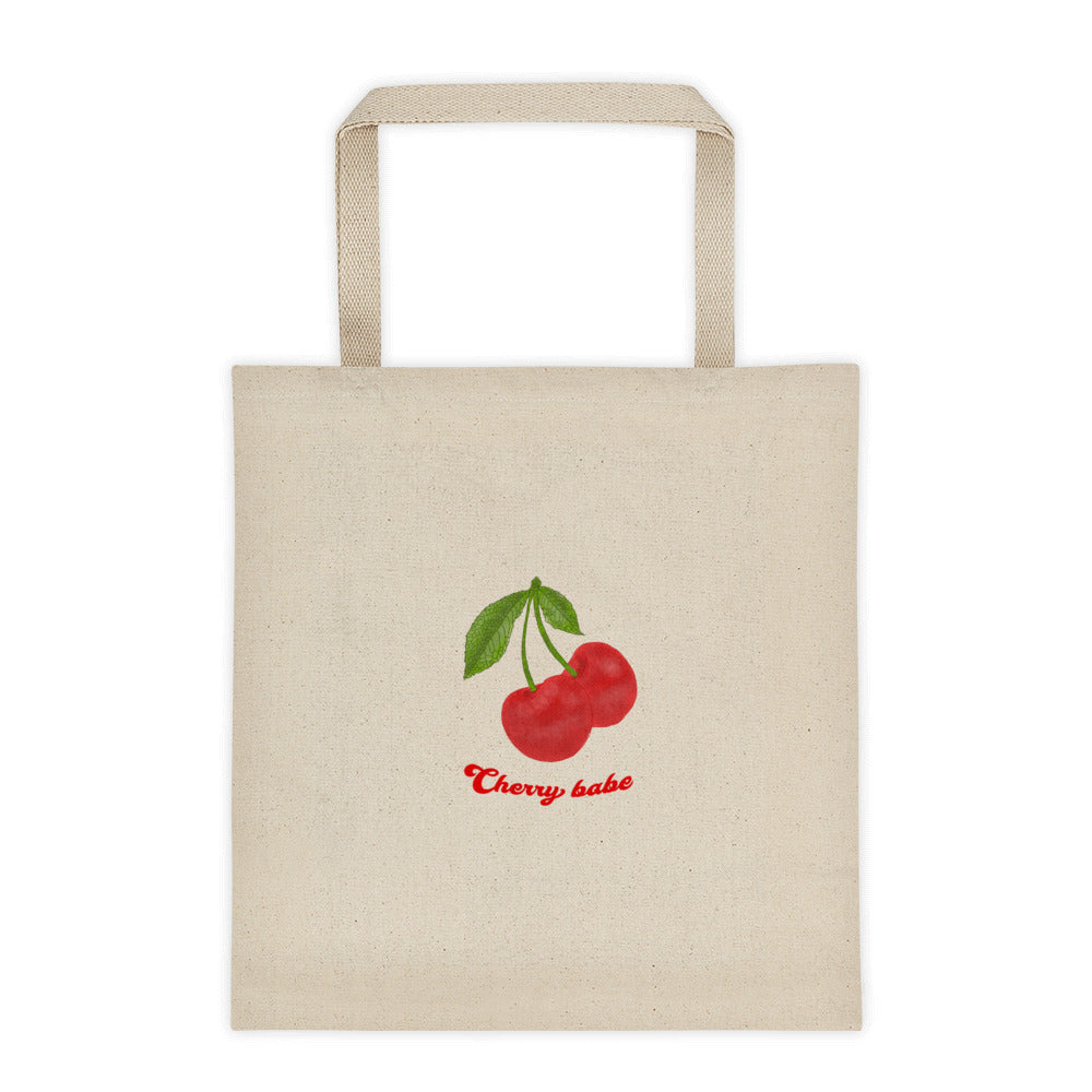 Cherry Canvas Tote bag - Hapyrel