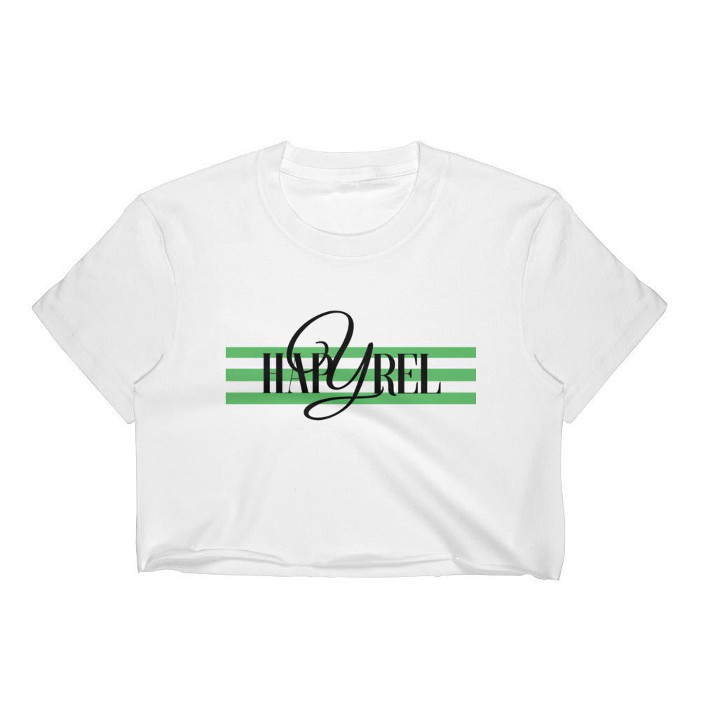 Green Logo Women's Crop Top - Hapyrel