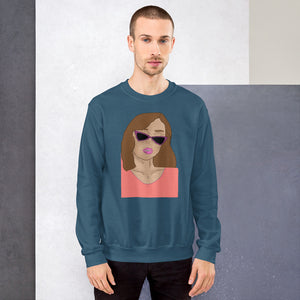 Cat eye Unisex Sweatshirt - Hapyrel