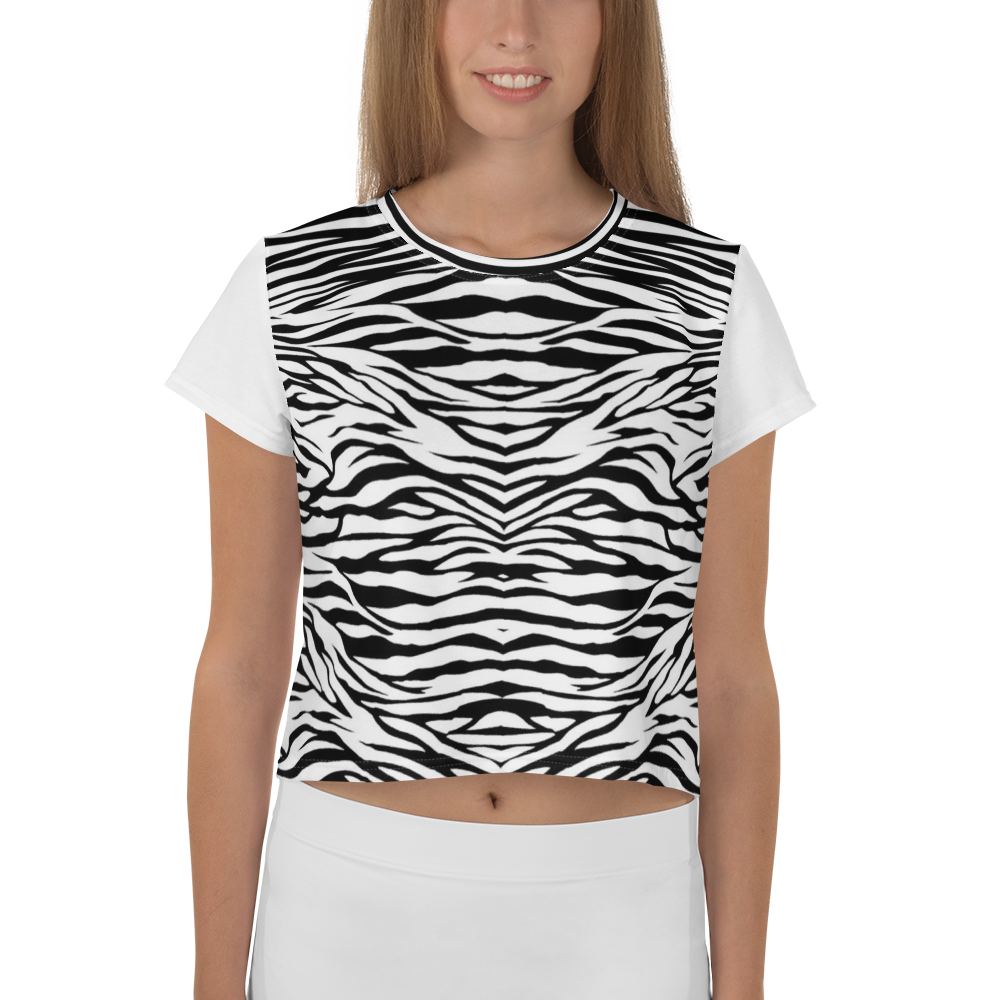 Super Zebra Crop Tee - Hapyrel