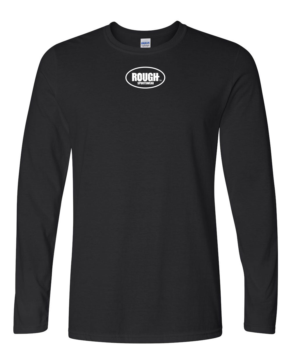 Men's Long Sleeve Cotton T-Shirt with Small Logo