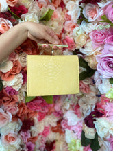 Load image into Gallery viewer, Light yellow snakeskin mini bag