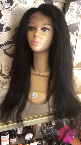 "24"" kinky straight full lace wig"