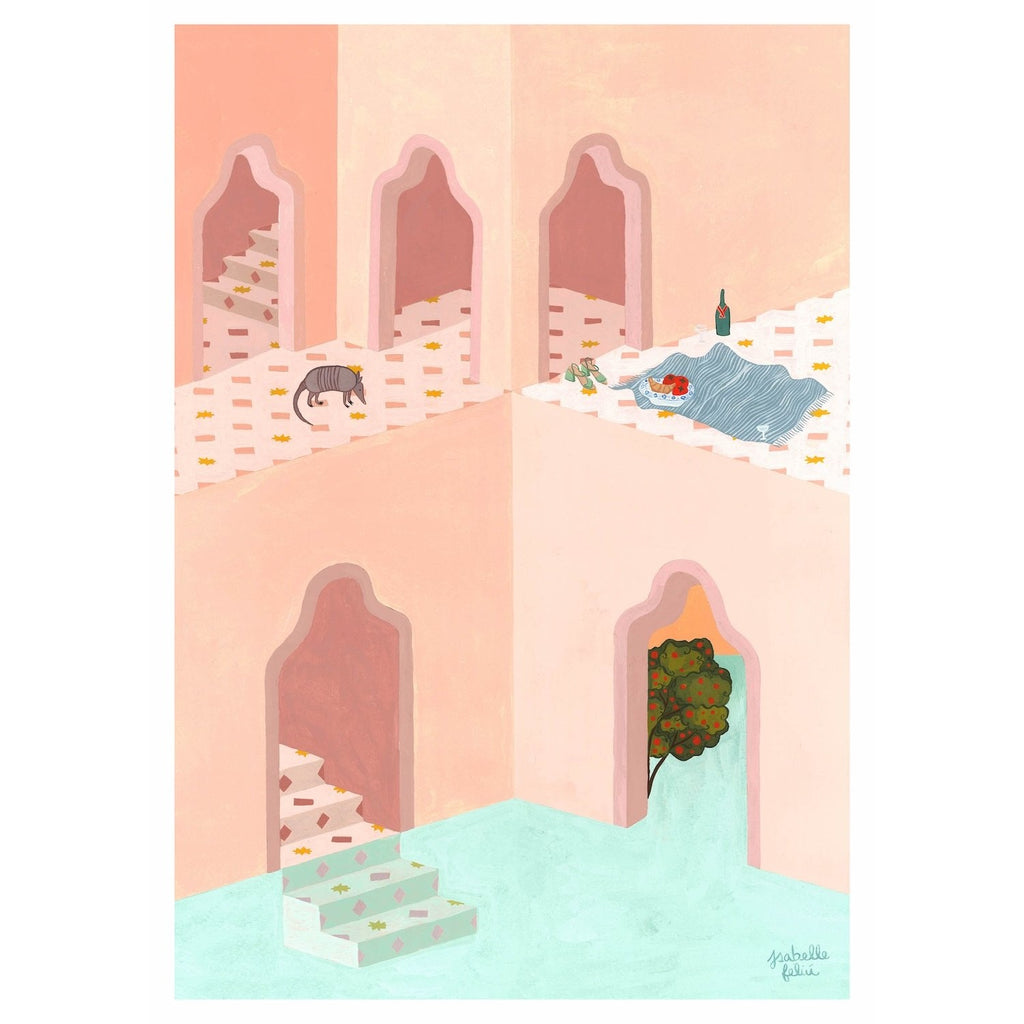 STRANGE PLACE FOR A PICNIC PRINT - Art Print - Isabelle Feliu