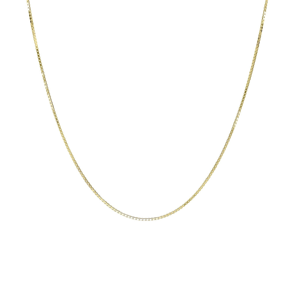 BOX CHOKER NECKLACE GOLD - Necklaces - Wildthings Collectables