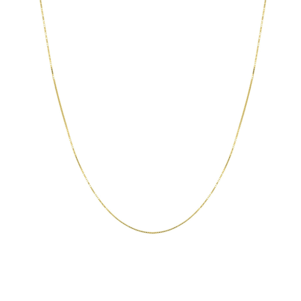 BOX NECKLACE GOLD - Necklaces - Flawed
