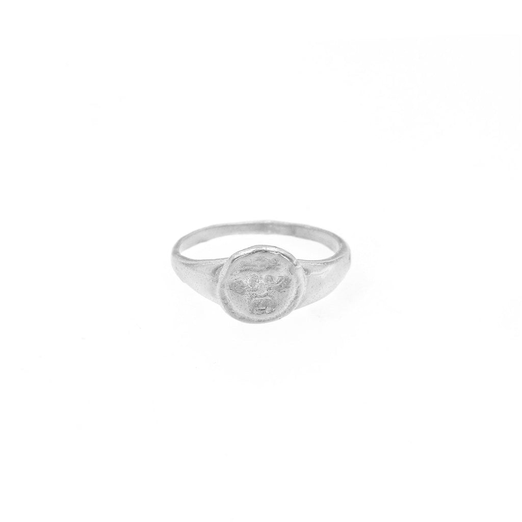 GORGONEION PINKY RING SILVER - Rings - Cleopatra's Bling