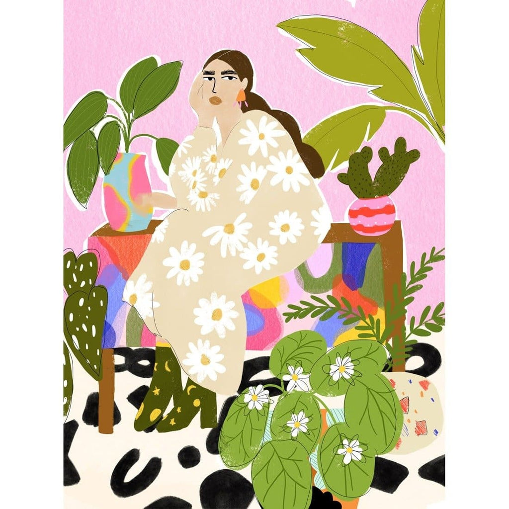 HANGING OUT WITH PLANTS ART PRINT - Art Print - Alja Horvat