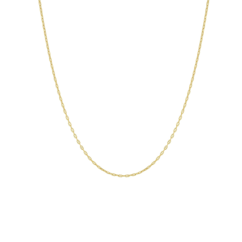 HOOKED CHAIN NECKLACE GOLD - Necklaces - Flawed