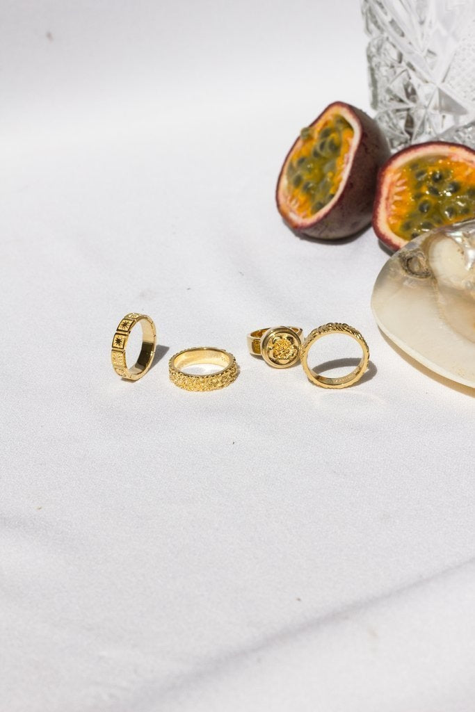 KISSED BY THE SUN RING GOLD - Rings - Wildthings Collectables