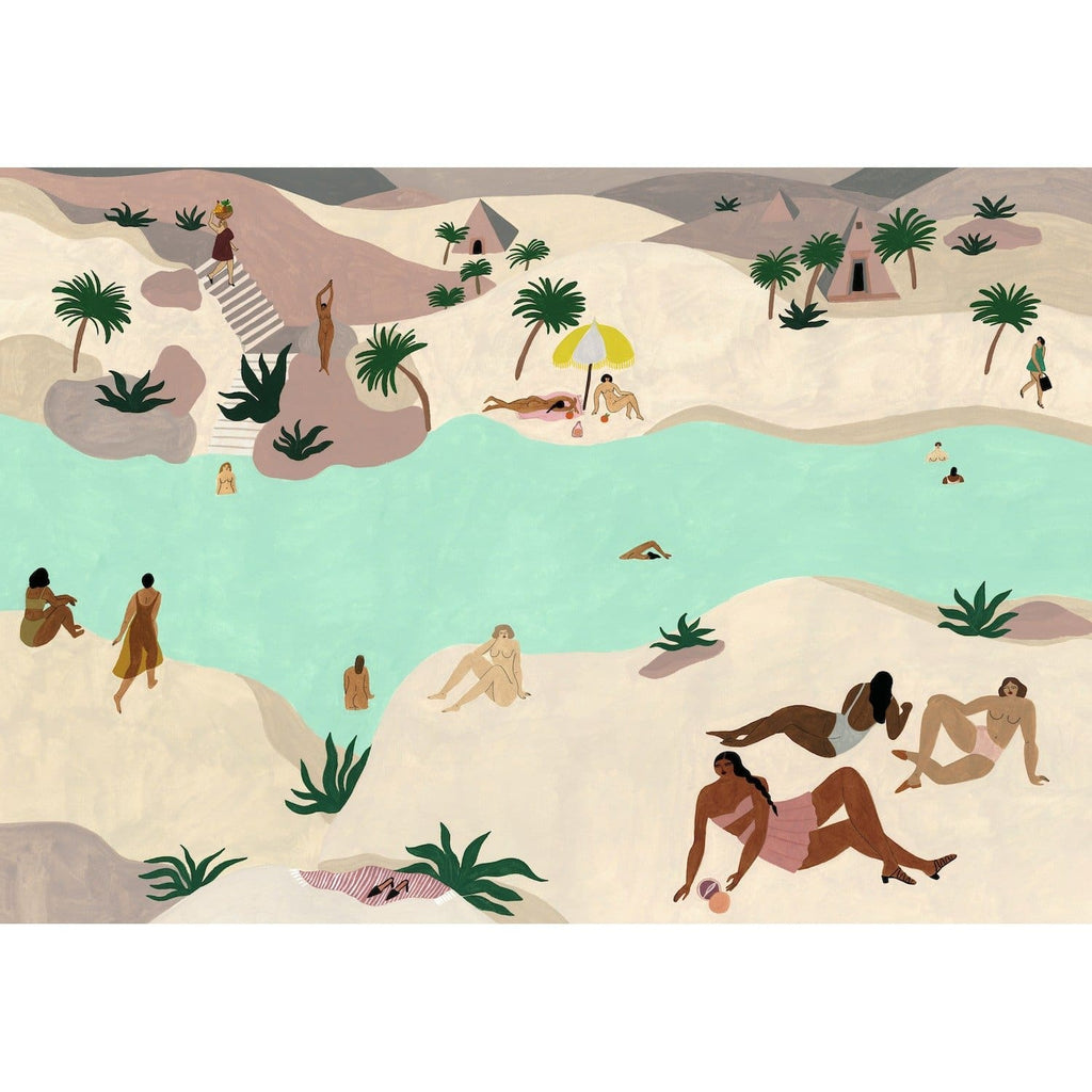 RIVER IN THE DESERT ART PRINT - Art Print - Isabelle Feliu
