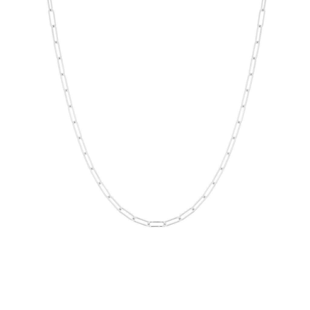 SQUARE CHAIN NECKLACE SILVER - Necklaces - Flawed