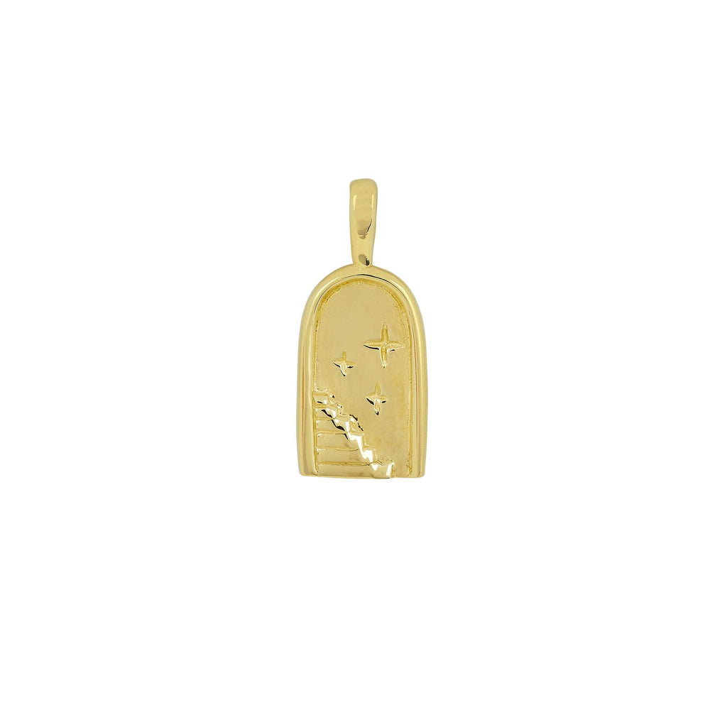 STARRY NIGHT PENDANT GOLD - Necklaces - Flawed