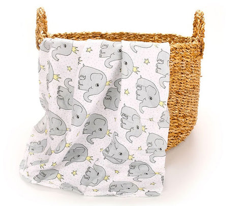 Animal Print Baby Muslin Swaddle 100% Cotton