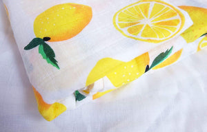 Fruit Print Baby Muslin Swaddle 100% Cotton