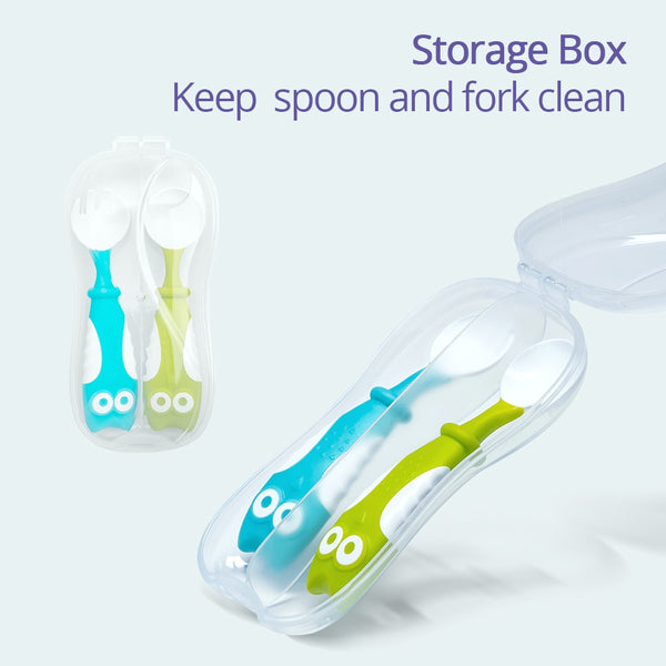 Soft Feeding Spoon and Fork | Baby Fork Spoon Set