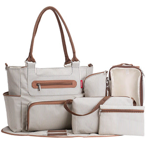 7pcs Tote Diaper Bag - Soho Collection