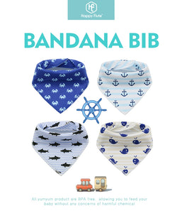 4pcs Baby Bibs | Washable & Adjustable - HappyFlute