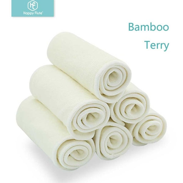 10pcs Insert | 4 Layers Bamboo Terry - HappyFlute