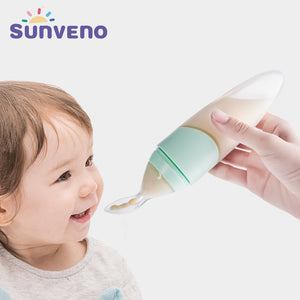 Squeeze Feeding Bottle with Spoon - 90ml