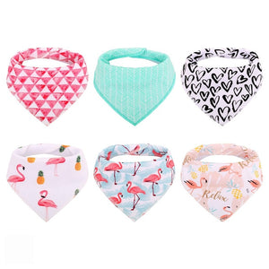 6pcs Baby Bibs | Washable & Adjustable - HappyFlute