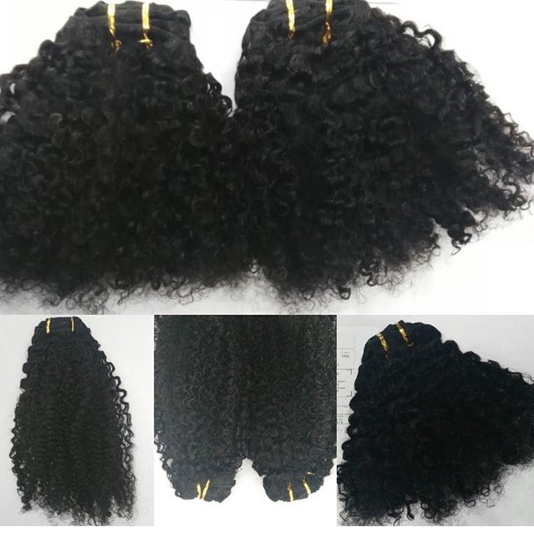 3B 3C Curly Clip Ins - Kris Koffee Beauty