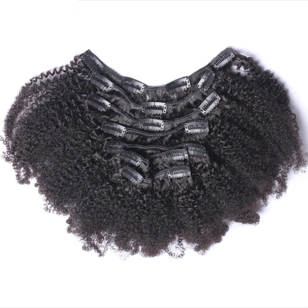 Afro Kinky Curly Clip Ins - Kris Koffee Beauty