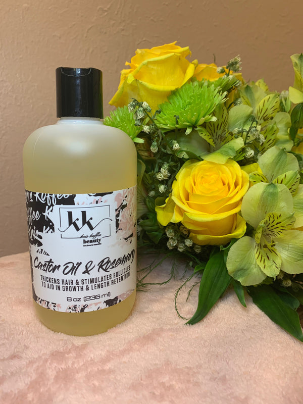 Castor Oil & Rosemary - Kris Koffee Beauty