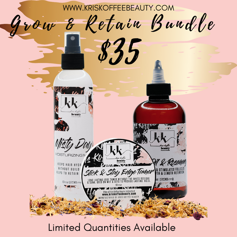 Grow & Retain Bundle - Kris Koffee Beauty