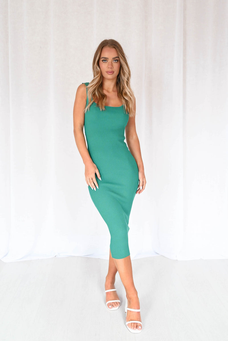 Bexley Knit Dress - Emerald Green
