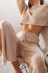 Baha Ribbed Wide Leg Pants