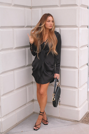 Ruby Shirt Dress - Black