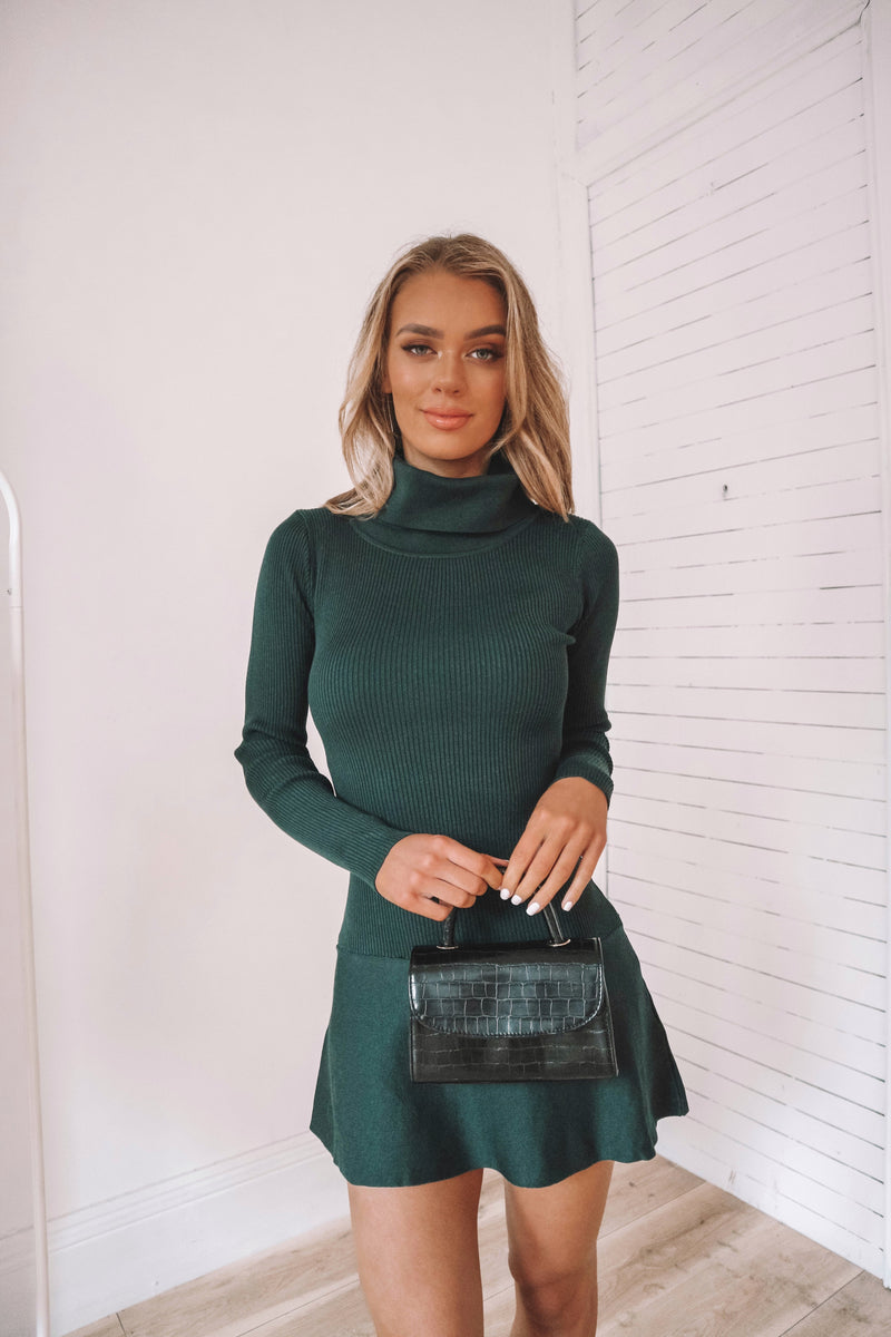 Gabbie Knit Dress - Emerald Green