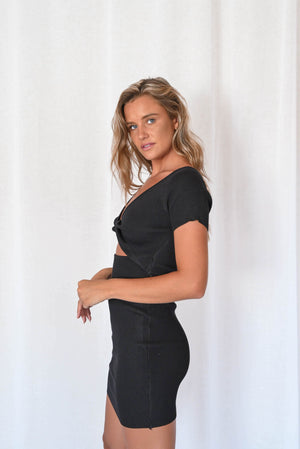 Polly Mini Dress - Black