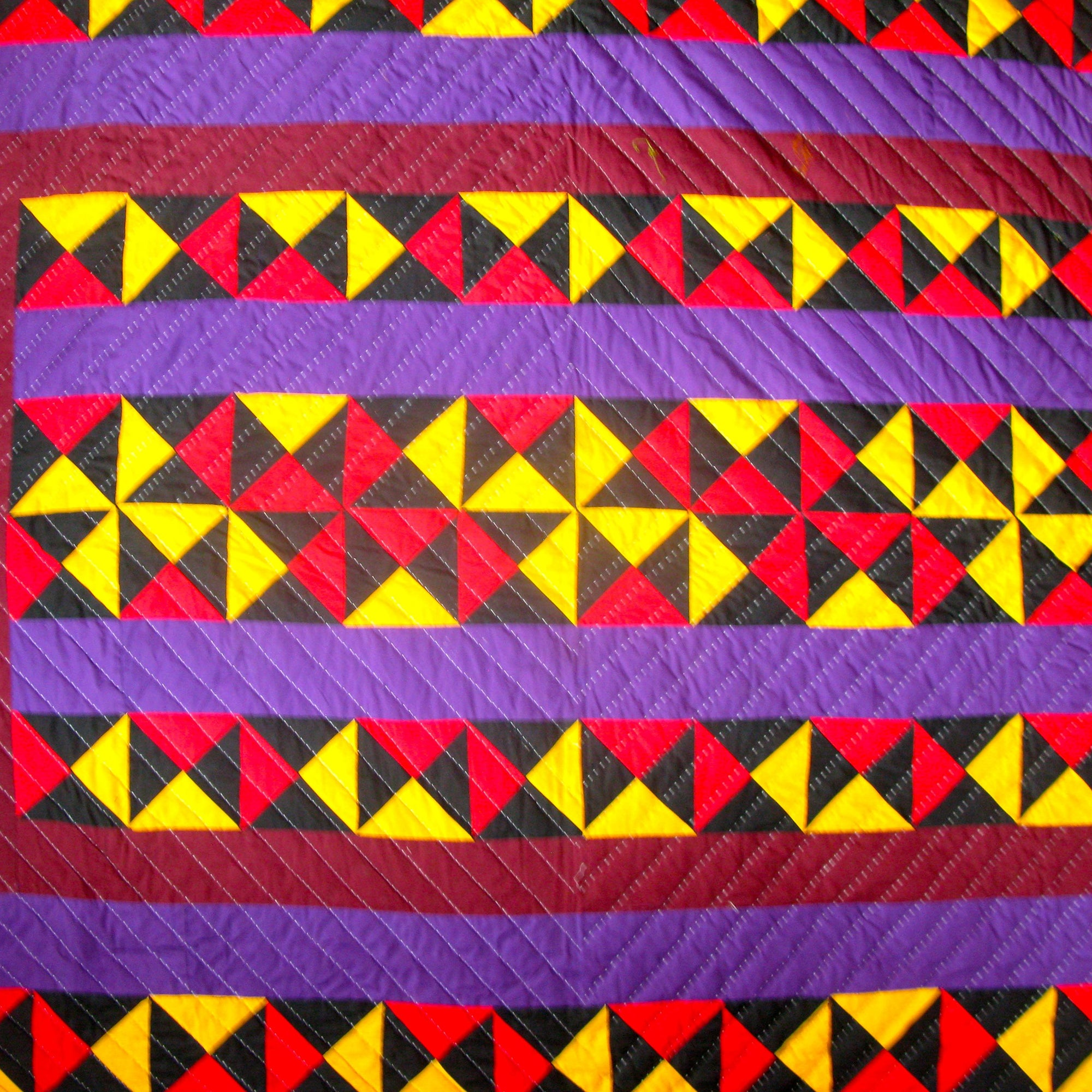Fancy Quilt- Purple Streaks