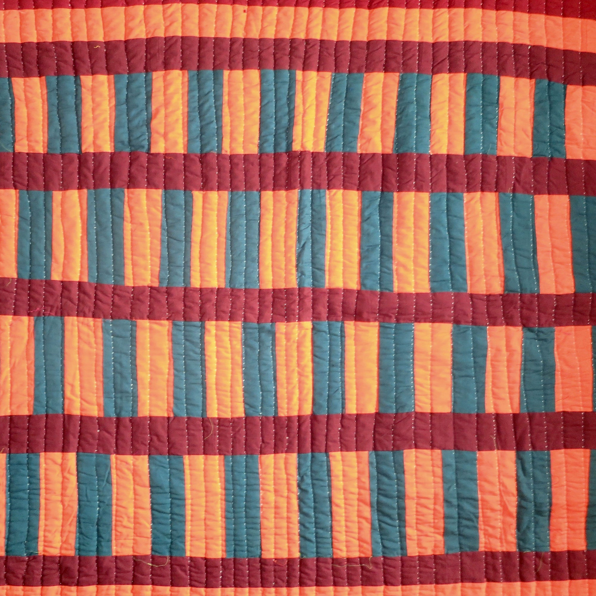 Fancy Quilt- Orange Bars