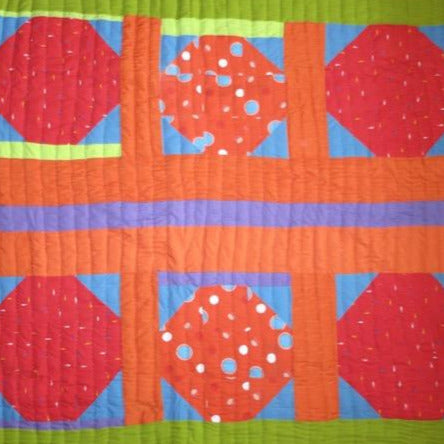 Fancy Quilt- Red Dots