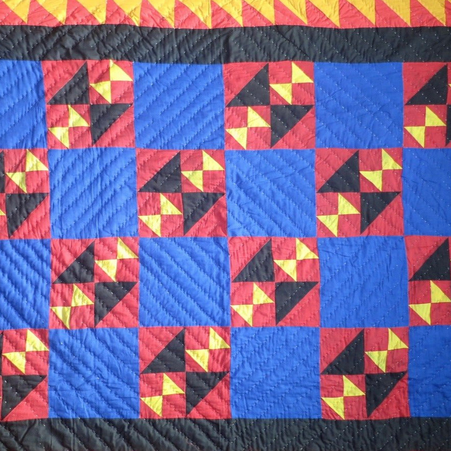 Fancy Quilt- Bright Blue Skies