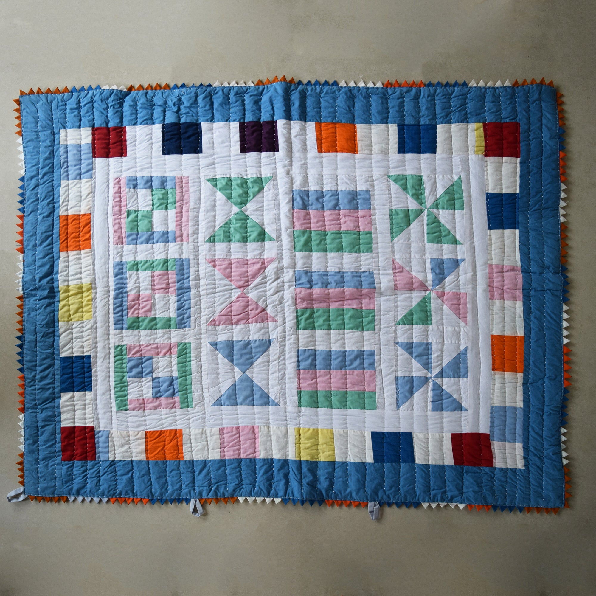 Baby Quilt- Pastel Mosaic
