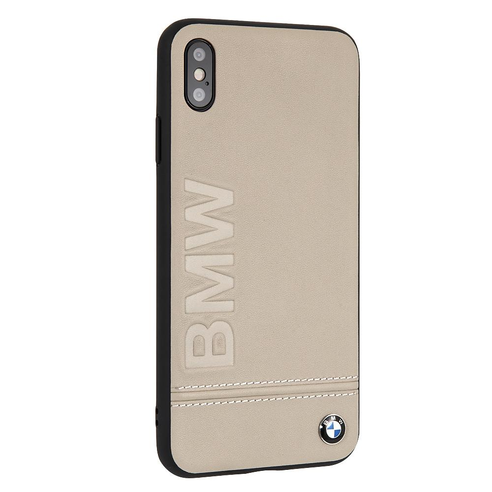 BMW Genuine Leather Rigid Case For iPhone XS Max (Taupe) Mobile Cases BMW