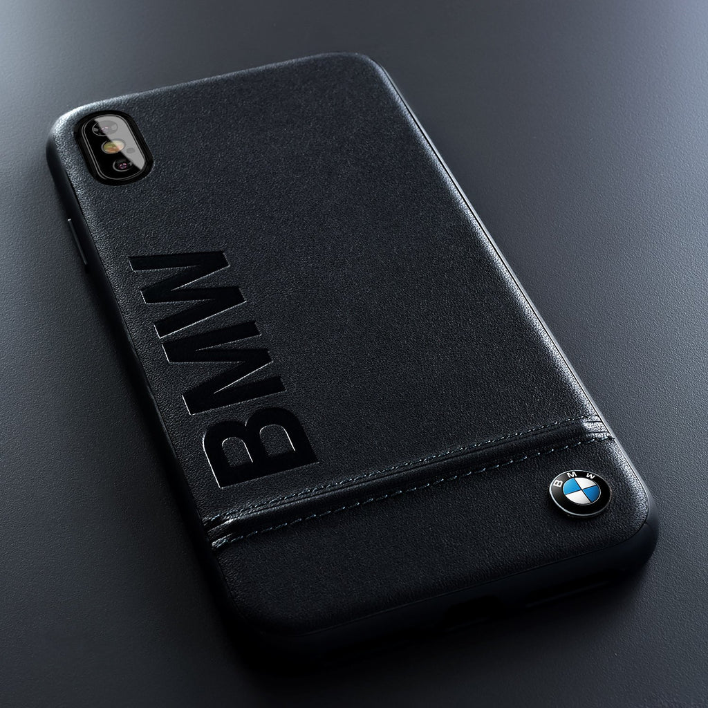 BMW Signature Logo Hardcase For iPhone XS/X (Black) Mobile Cases BMW