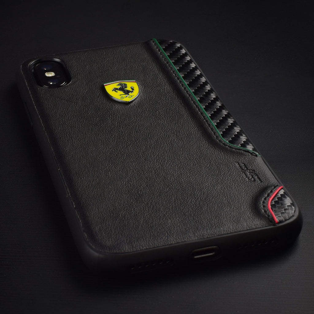 Ferrari On Track Collection Hardcase For iPhone XS Max (Black) Mobile Cases Ferrari
