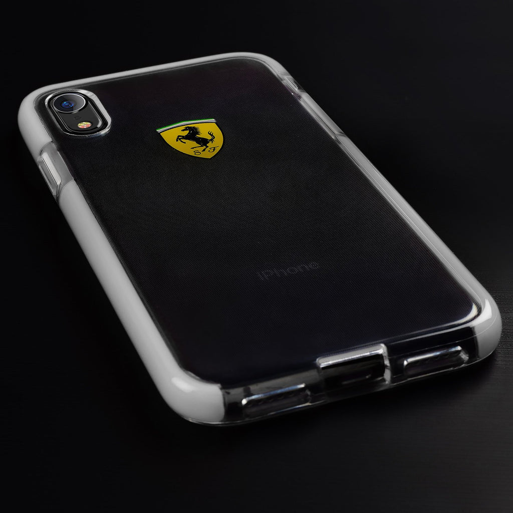 Ferrari On Track Collection, Shockproof Hard Case Cover For iPhone XR (Transparent) Mobile Cases Ferrari