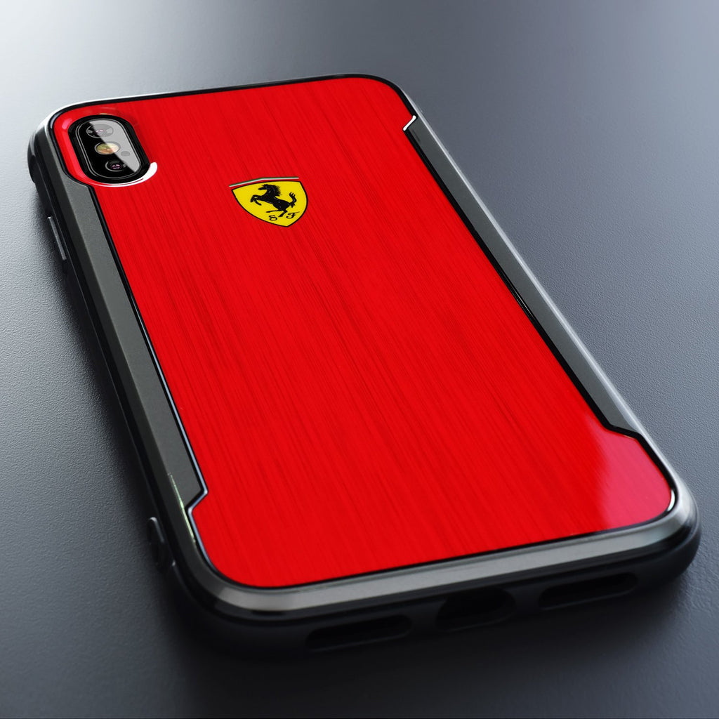 Ferrari Original Logo Hard Case For iPhone XS Max (Red) Mobile Cases Ferrari