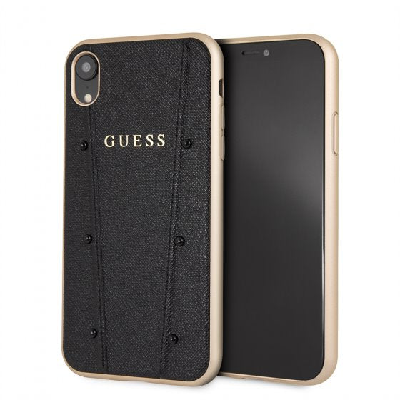 Guess Black Hard Phone Case for iPhone XR Mobile Cases Guess