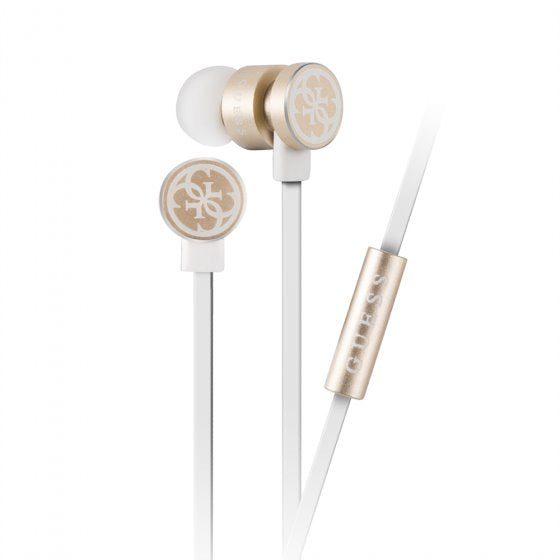 GUESS Inc. HD Rose Gold Wired Heaphones Earphone Guess