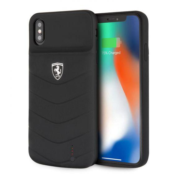 iPhone XR POWER CASE OFF TRACK - 3600mAH - Lithium Battery - Debossed Lines - Full Cover- Rubber Finish - Black Power Banks Ferrari