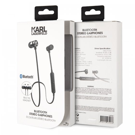 Karl Lagerfeld Black Bluetooth Headphones Bluetooth Headphones Karl Lagerfeld