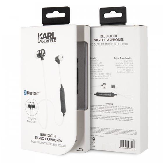 Karl Lagerfeld White Bluetooth Headphones Bluetooth Headphones Karl Lagerfeld