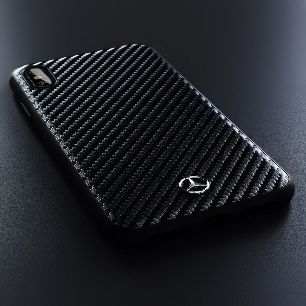Mercedes Benz Real Carbon Hardcase For iPhone XS Max (Black) Mobile Cases Mercedes-Benz